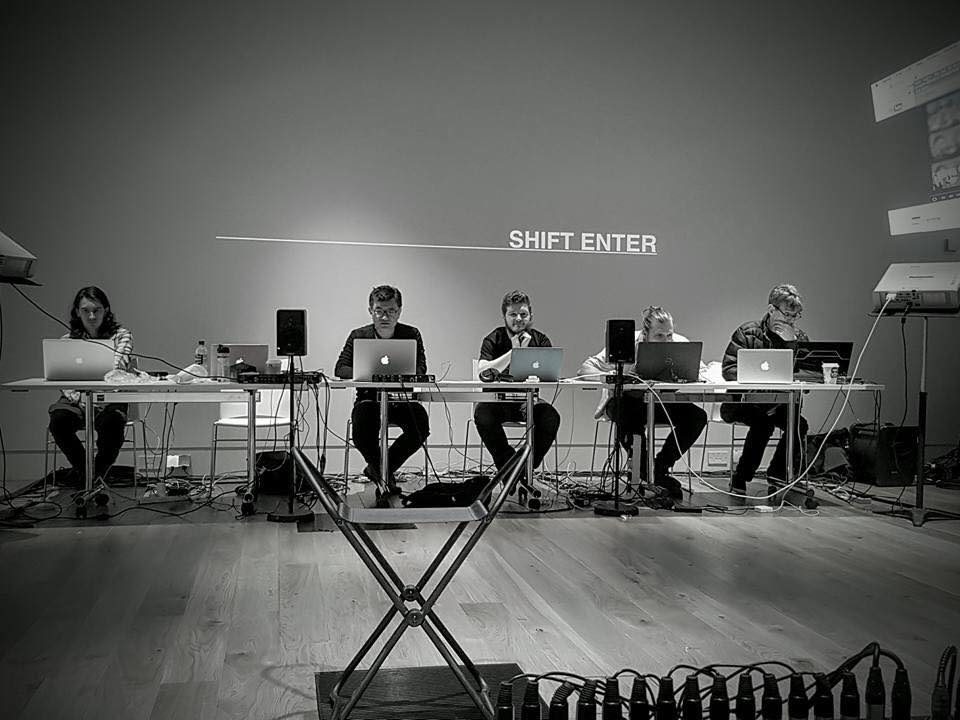 Time and Again, Shift-Enter's first solo performance at the Cube, University of Aberdeen's library gallery, on September 16, 2016