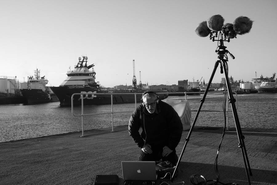 Professor Pete Stollery on recording 4 channel soundscape at the Aberdeen Harbour
